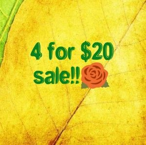 🌹4 for $20 sale!!!